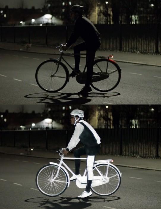 Светящийся спрей для ночной защиты велосипедистов от Volvo