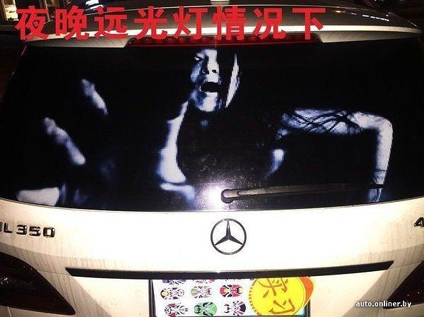 Страшные наклейки на автомобиль с зомби против дальнего света фар Китай рулит